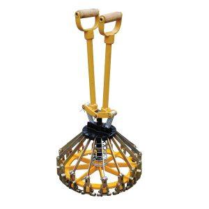 Собранный пломбиратор 300мм для ведер желтого цвета