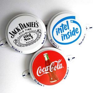Изображение пломб с логотипом для бочки 200 литров.