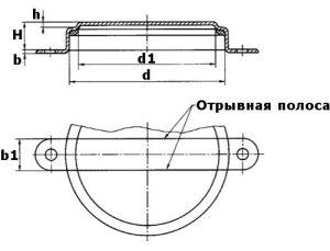 Изображение чертежа большой пломбы для бочки 200 литров
