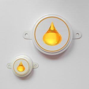 Изображение комплекта пломб с логотипом для бочки 200 литров.