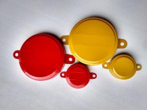 Красная и желтая пломба для бочки
